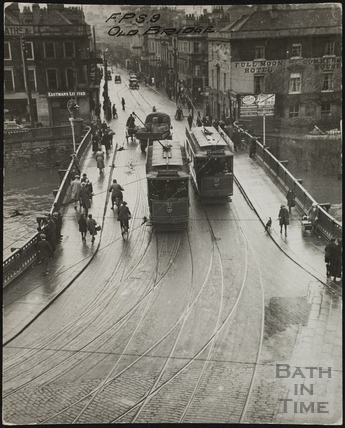 Old Bridge and view of Southgate Street, Bath c.1910