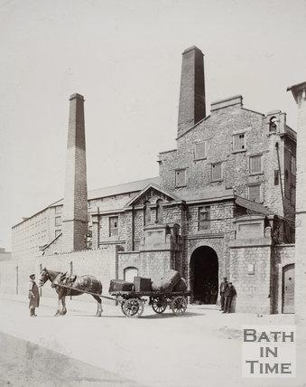 Entrance, Carr's Mills, Twerton, Bath c.1890