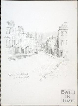 Looking down Belmont, Lansdown Road and Broad Street, Bath c.1930