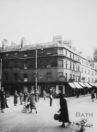 Corner of east side of Southgate Street, Bath 1933