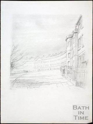 Lansdown Crescent, Bath c.1930