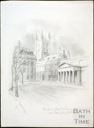 The Bath Royal Literary and Scientific Institute from North Parade, Bath c.1930