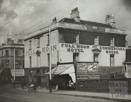 Full Moon Hotel, Southgate Street and Dorchester Street, Bath c.1915