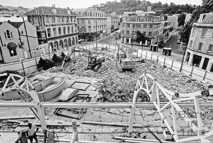 Sawclose redevelopment, Bath c.1990