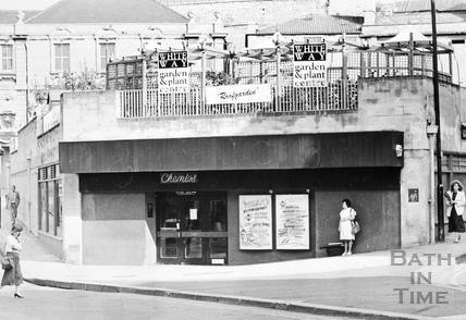 Site of Seven Dials, Sawclose development, Bath 1989