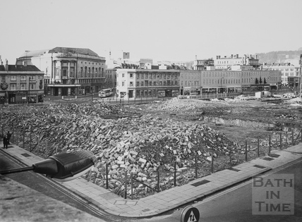 Southgate Street area razed prior to the building of the old Southgate Shopping Centre 1972