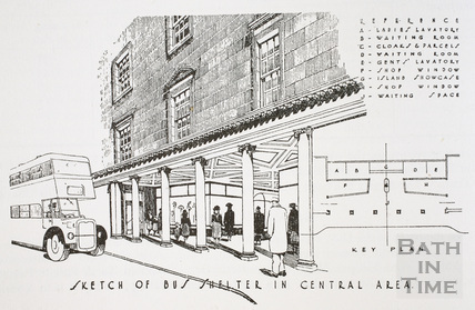 Sketch of a Bus Shelter in Central Area, Bath