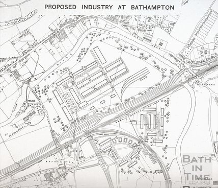 Proposed Industry at Bathampton 1945
