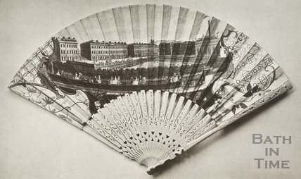 Fan view of the Parades, Harrison's Walk and Bowling Green, Bath 1737
