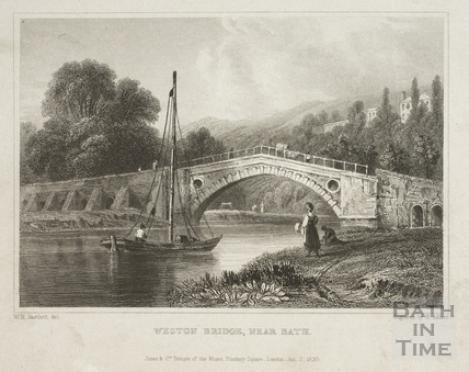 Weston Bridge near Bath 1830