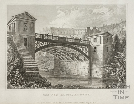Cleveland Bridge, The New Bridge, Bathwick, Bath 1829