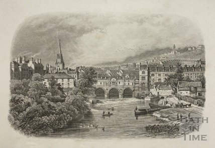 View from the North Parade Bridge, Bath c.1853
