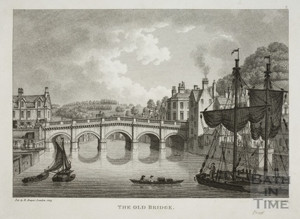 The Old Bridge, Bath 1819