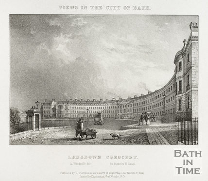 Lansdown Crescent, Bath 1828