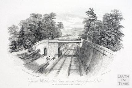 Great Western Railway, through Sydney Gardens, Bath 1844