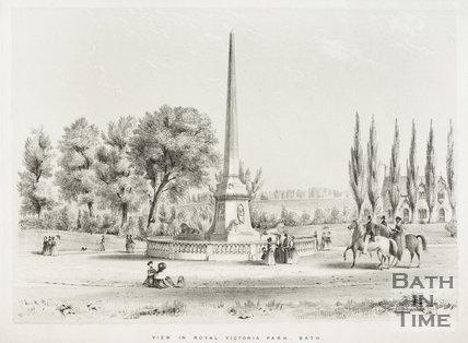 View in Royal Victoria Park, Bath c.1840