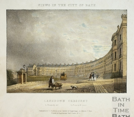 Lansdown Crescent, Bath 1828