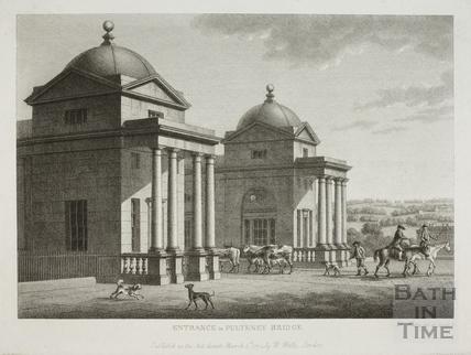 Entrance to Pulteney Bridge, Bath 1794