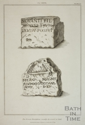 Two Roman Inscriptions recently discovered at Bath 1829