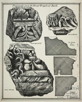 Fragments from the Great Temple at Bath 1869