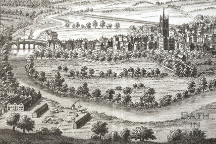 A Perspective View of the City of Bath 1758 - detail