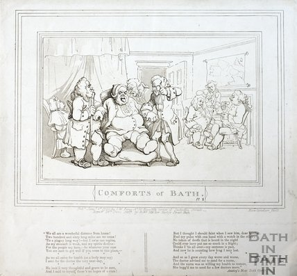 Comforts of Bath, Plate 1 1798, republished 1857