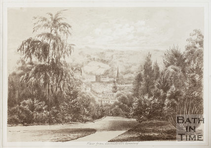 View from Locksbrook Cemetery, Bath 1881