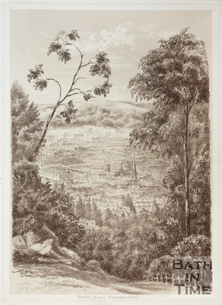 Bath from Beacon Hill 1881