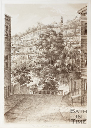 View from Pulteney Street, Bath 1881
