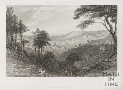 View of the City of Bath from Southeast 1829