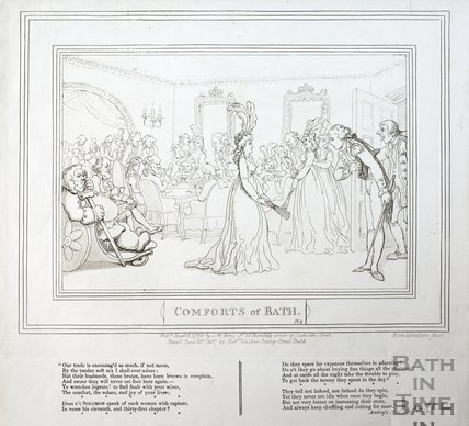 Comforts of Bath, Plate 8 1798, republished 1857