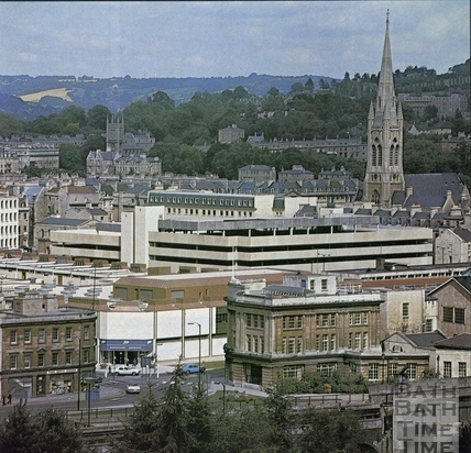 Ham Gardens and Southgate Shopping Centre, Bath c.1973