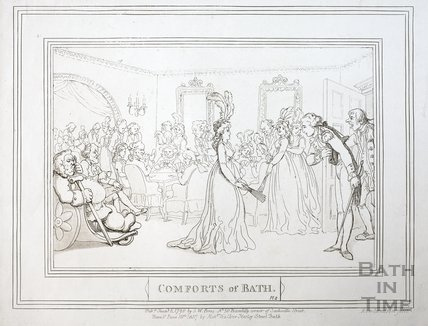 Comforts of Bath, Plate 8 1798, republished 1857 - detail