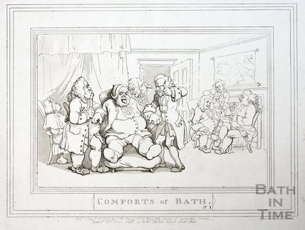 Comforts of Bath, Plate 1 1798, republished 1857 - detail