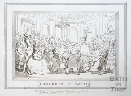 Comforts of Bath, Plate 2 1798, republished 1857 - detail