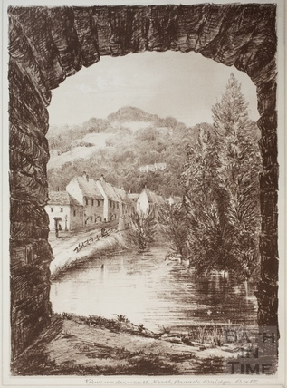 View from underneath the North Parade Bridge, Bath 1881