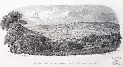 View of Bath taken near Prior Park c.1846 - detail