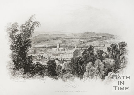 Bath from the vicinity of Prior Park 1838