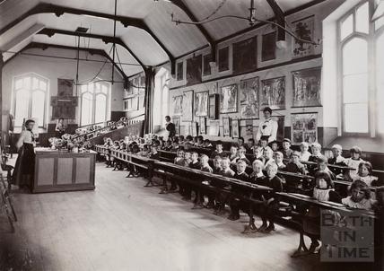 Classroom in use, Twerton Parochial Schools, Bath c.1900
