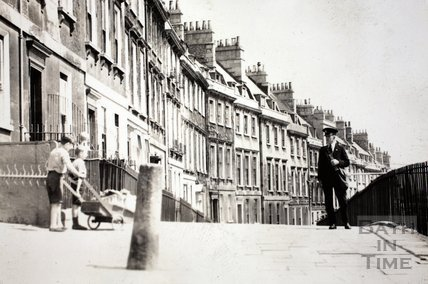 Walcot Parade, Bath c.1960 - detail