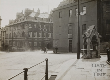 The public fountain, Fountain Buildings, Lansdown Road, Bath c.1920
