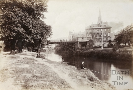 North Parade Bridge, Bath c.1890