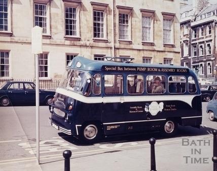 Assembly Rooms Trojan Bus, Bath c.1965