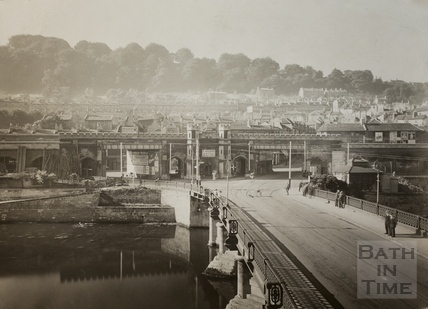 The Old Bridge and Brunel's railway viaduct, Bath c.1910