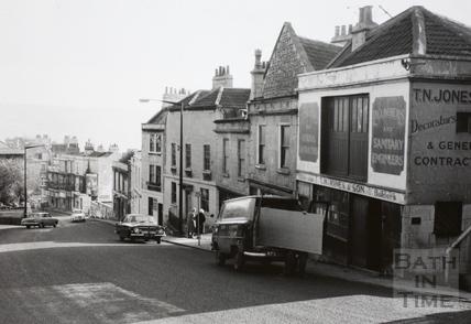 High Street, Lansdown Road, Bath 1966