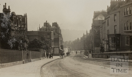 Belvedere, Lansdown Road, looking south, Bath c.1915