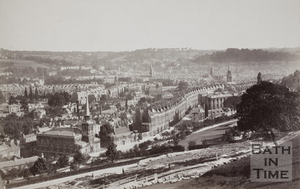 View from Camden Crescent, Bath c.1910