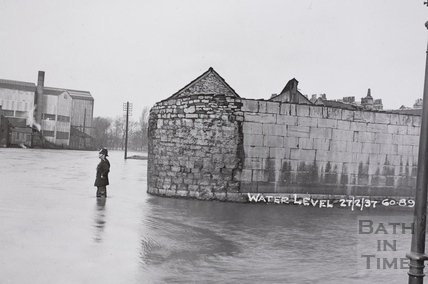 Floods, Avon Street, Bath 1937 - detail