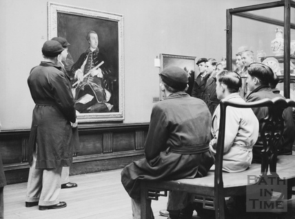Bath school children at the Gainsborough exhibition 1949