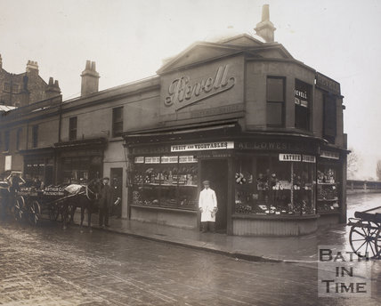 Arthur Goddard, confectioner and greengrocer, 17, Pulteney Bridge, Bath 1903